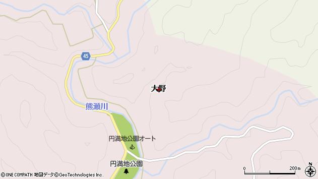 〒649-5461 和歌山県東牟婁郡那智勝浦町大野の地図