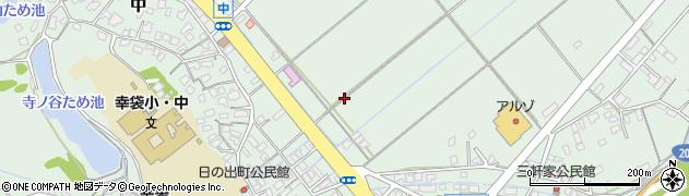 福岡県飯塚市中周辺の地図