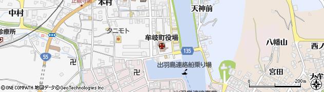 徳島県海部郡牟岐町周辺の地図