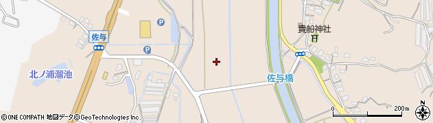 福岡県飯塚市佐與周辺の地図