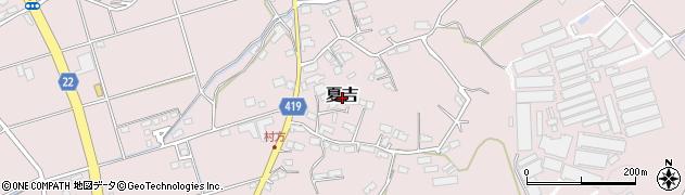 福岡県田川市夏吉周辺の地図