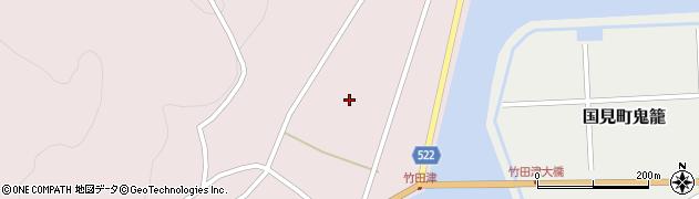 大分県国東市国見町竹田津浦手周辺の地図