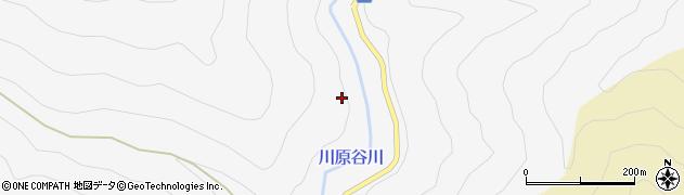 川原谷川周辺の地図