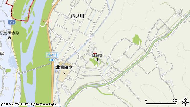 〒649-2322 和歌山県西牟婁郡白浜町内ノ川の地図