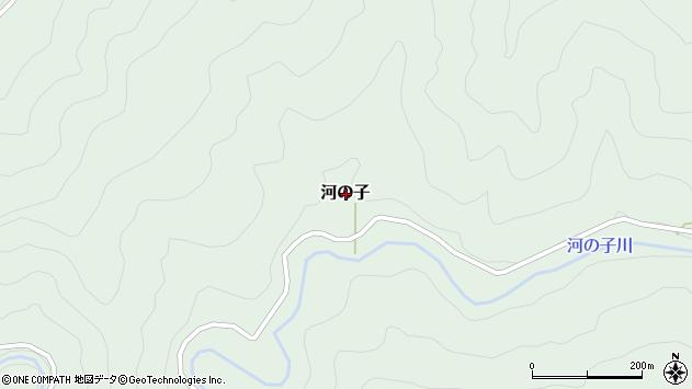 〒791-1708 愛媛県上浮穴郡久万高原町河の子の地図