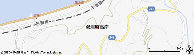 愛媛県伊予市双海町高岸周辺の地図