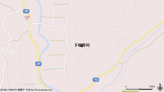 〒791-1212 愛媛県上浮穴郡久万高原町下畑野川の地図