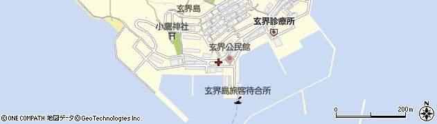 福岡県福岡市西区玄界島周辺の地図