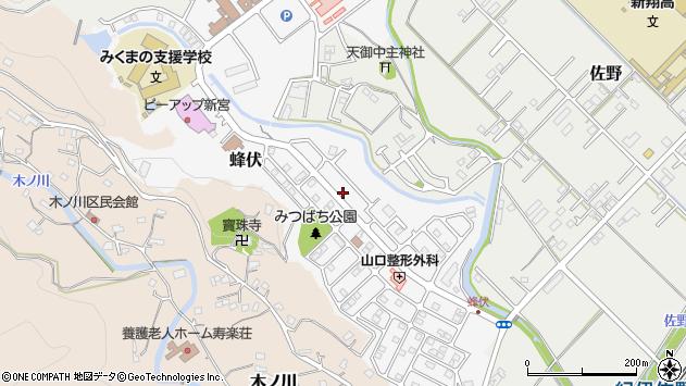 〒647-0072 和歌山県新宮市蜂伏の地図