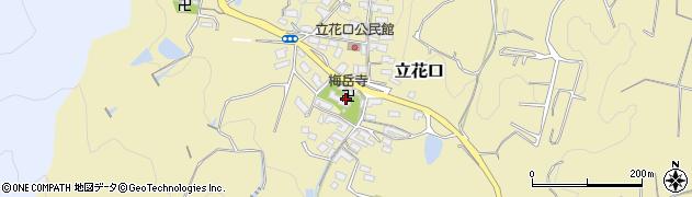 梅岳寺周辺の地図