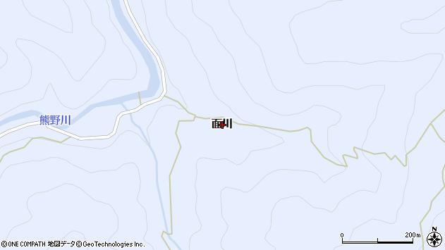 〒646-1322 和歌山県田辺市面川の地図