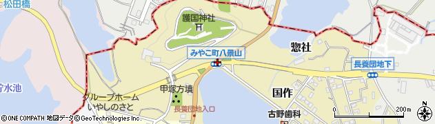 豊津町八景山周辺の地図