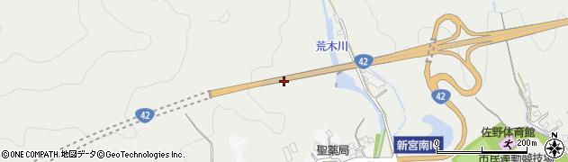 一般国道42号周辺の地図