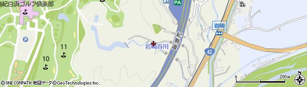 和歌山県上富田町(西牟婁郡)岩崎周辺の地図
