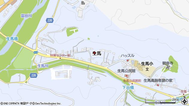 〒649-2103 和歌山県西牟婁郡上富田町生馬の地図