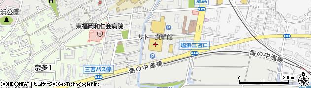 花のあらまき 和白店周辺の地図