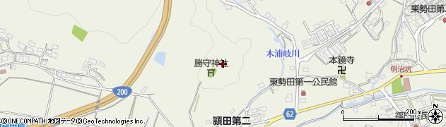 福岡県飯塚市勢田周辺の地図