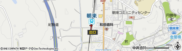 和歌山県西牟婁郡上富田町周辺の地図
