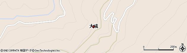 愛媛県久万高原町(上浮穴郡)大成周辺の地図