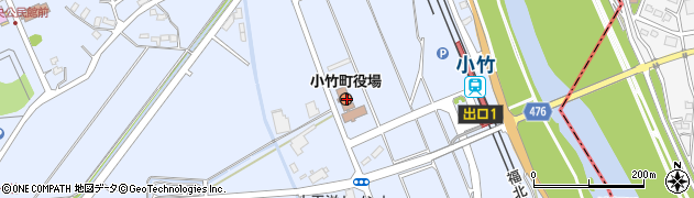 福岡県鞍手郡小竹町周辺の地図