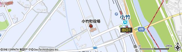 福岡県小竹町(鞍手郡)周辺の地図