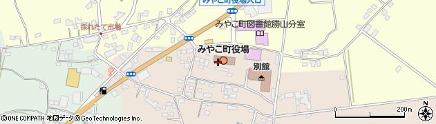 福岡県京都郡みやこ町周辺の地図