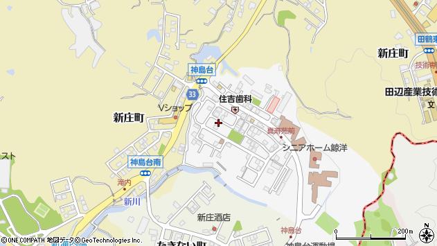 〒646-0012 和歌山県田辺市神島台の地図