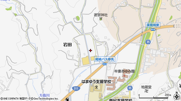 〒649-2102 和歌山県西牟婁郡上富田町岩田の地図