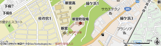 福岡県糟屋郡新宮町周辺の地図