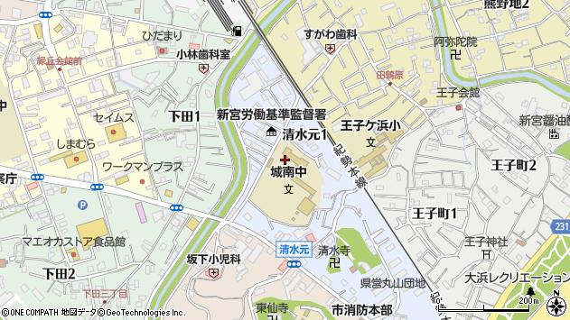 〒647-0033 和歌山県新宮市清水元の地図