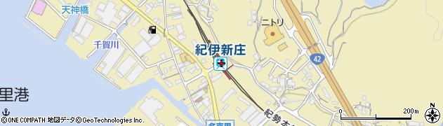 和歌山県田辺市周辺の地図
