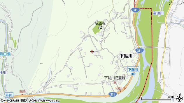 〒649-2108 和歌山県西牟婁郡上富田町下鮎川の地図