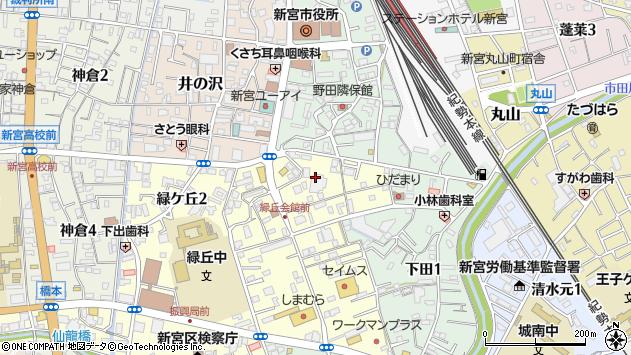 〒647-0043 和歌山県新宮市緑ケ丘の地図