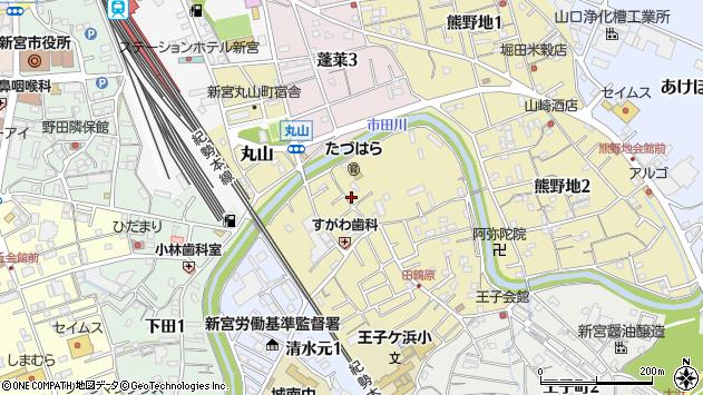 〒647-0031 和歌山県新宮市田鶴原町の地図