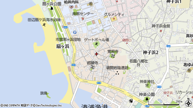 〒646-0037 和歌山県田辺市磯間の地図