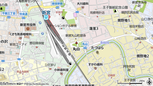 〒647-0034 和歌山県新宮市丸山の地図
