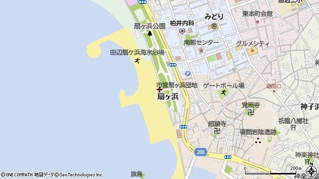 〒646-0034 和歌山県田辺市扇ケ浜の地図