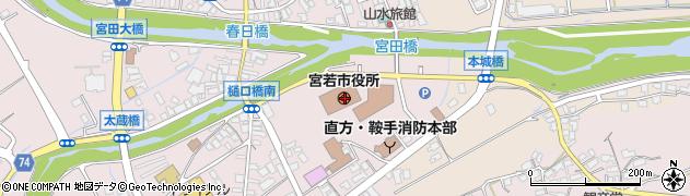 福岡県宮若市周辺の地図