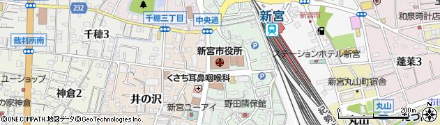 和歌山県新宮市周辺の地図