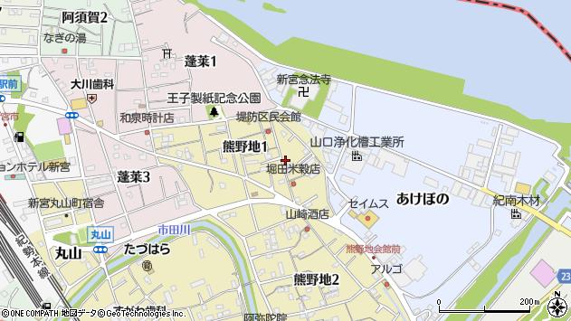 〒647-0024 和歌山県新宮市熊野地の地図