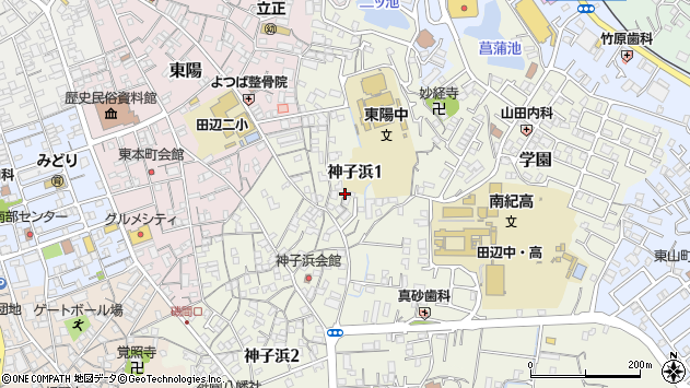 〒646-0025 和歌山県田辺市神子浜の地図
