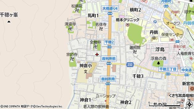 〒647-0015 和歌山県新宮市千穂の地図