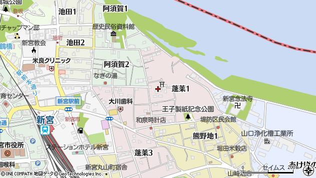 〒647-0023 和歌山県新宮市蓬莱の地図