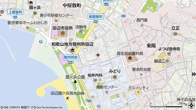 〒646-0033 和歌山県田辺市新屋敷町の地図
