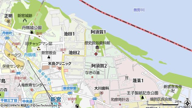 〒647-0022 和歌山県新宮市阿須賀の地図