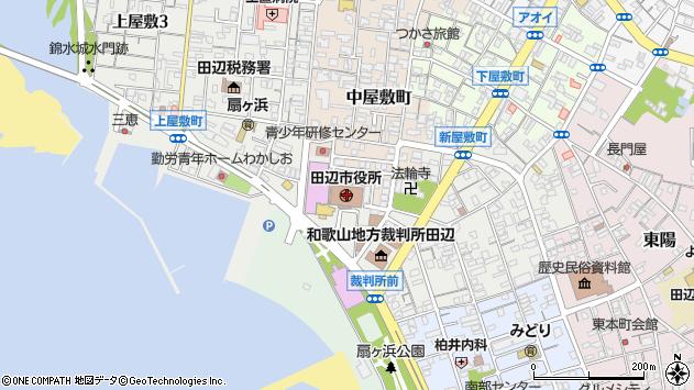 〒646-0000 和歌山県田辺市(以下に掲載がない場合)の地図