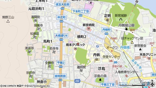 〒647-0016 和歌山県新宮市谷王子町の地図