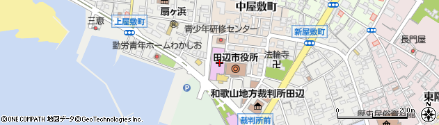 田辺市役所 防災まちづくり課周辺の地図