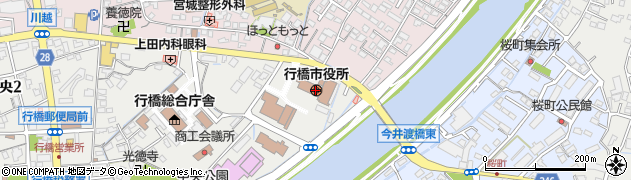 福岡県行橋市周辺の地図