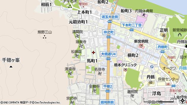 〒647-0007 和歌山県新宮市別当屋敷町の地図